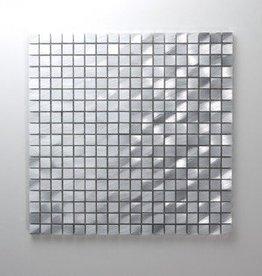 Novo Zilver Metaal Mozaïek Tegels 1. Keuz in 30x30x1 cm