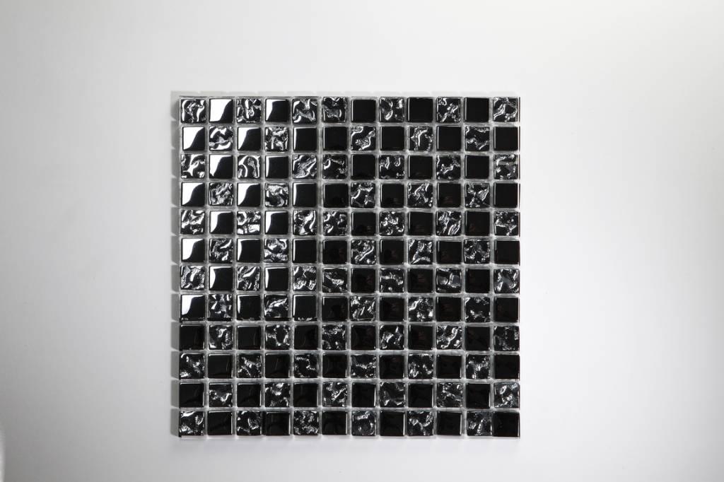 Perlmutt Metal glas mosaic tiles