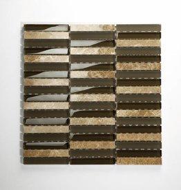 Delos Beige Brown Mix szklana mozaiki 1 Wybór w 30x30x1 cm