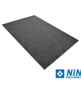 Nero Assoluto Dalles en granit Leather Finish, chanfrein, calibré, 1ère qualité premium de choix dans 60x40x1 cm