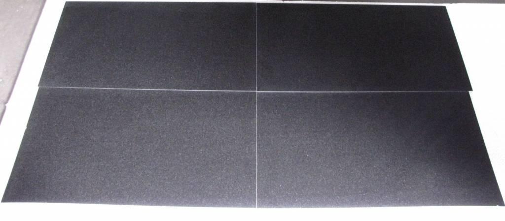 Nero Assoluto Gebürstet nero assoluto granit fliesen 40cm x freie länge x 1 5cm ninos