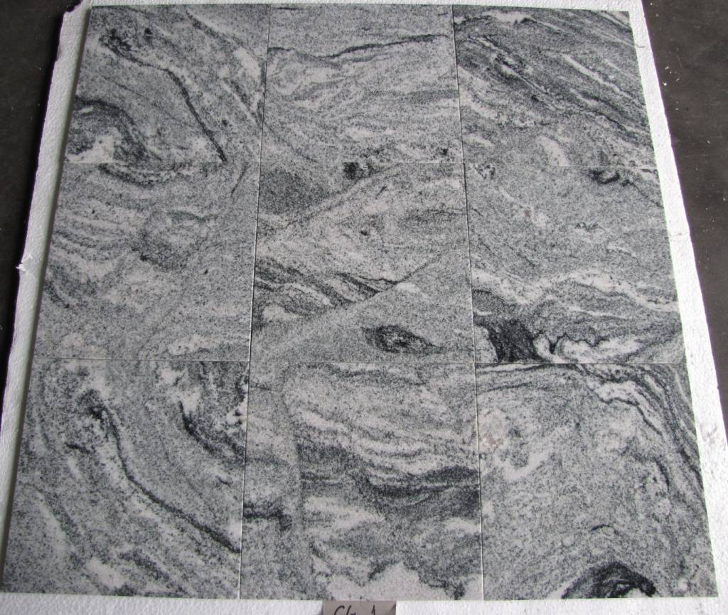 Viscont White Dalles en granit poli chanfrein calibré 30,5x30,5x1cm