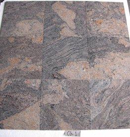 Juparana Colombo Natuursteen Tegels Gepolijst Facet Gekalibreerd 1. Keuz 30,5x30,5x1cm