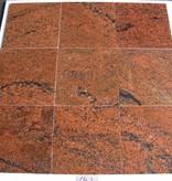 Multicolor Red Dalles en granit poli chanfrein calibré 30,5x30,5x1cm