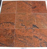 Multicolor Red Granit Płytki polerowane fazowane kalibrowane 30,5x30,5x1cm
