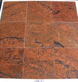 Multicolor Red Natuursteen Tegels Gepolijst Facet Gekalibreerd 1. Keuz in 30,5x30,5x1cm