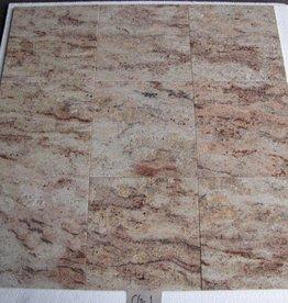 Ivory Brown Shivakashi Natuursteen Tegels Gepolijst Facet Gekalibreerd 1. Keuz in 30,5x30,5x1cm