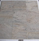 Kashmir White Granite Tiles Polished Chamfer Calibrated 30,5x30,5x1cm