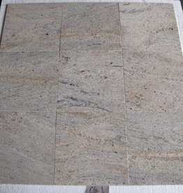 Kashmir White Dalles en granit poli chanfrein calibré 1. Choice dans 30,5x30,5x1cm