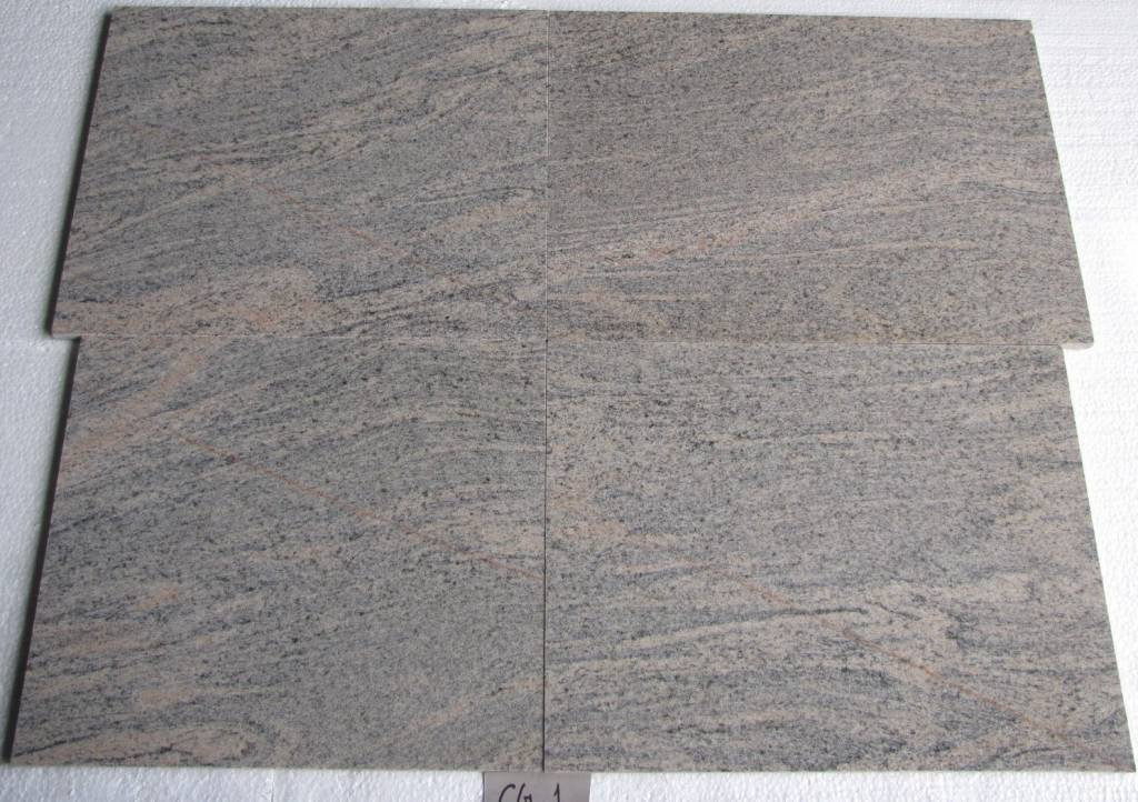 Juparana Colombo Dalles en granit poli 40 cm Longueur libre / 1,5 cm
