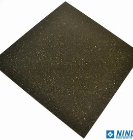 Black Star Galaxy Dalles en granit poli chanfrein calibré 1st choice dans 61x61x1,2 cm