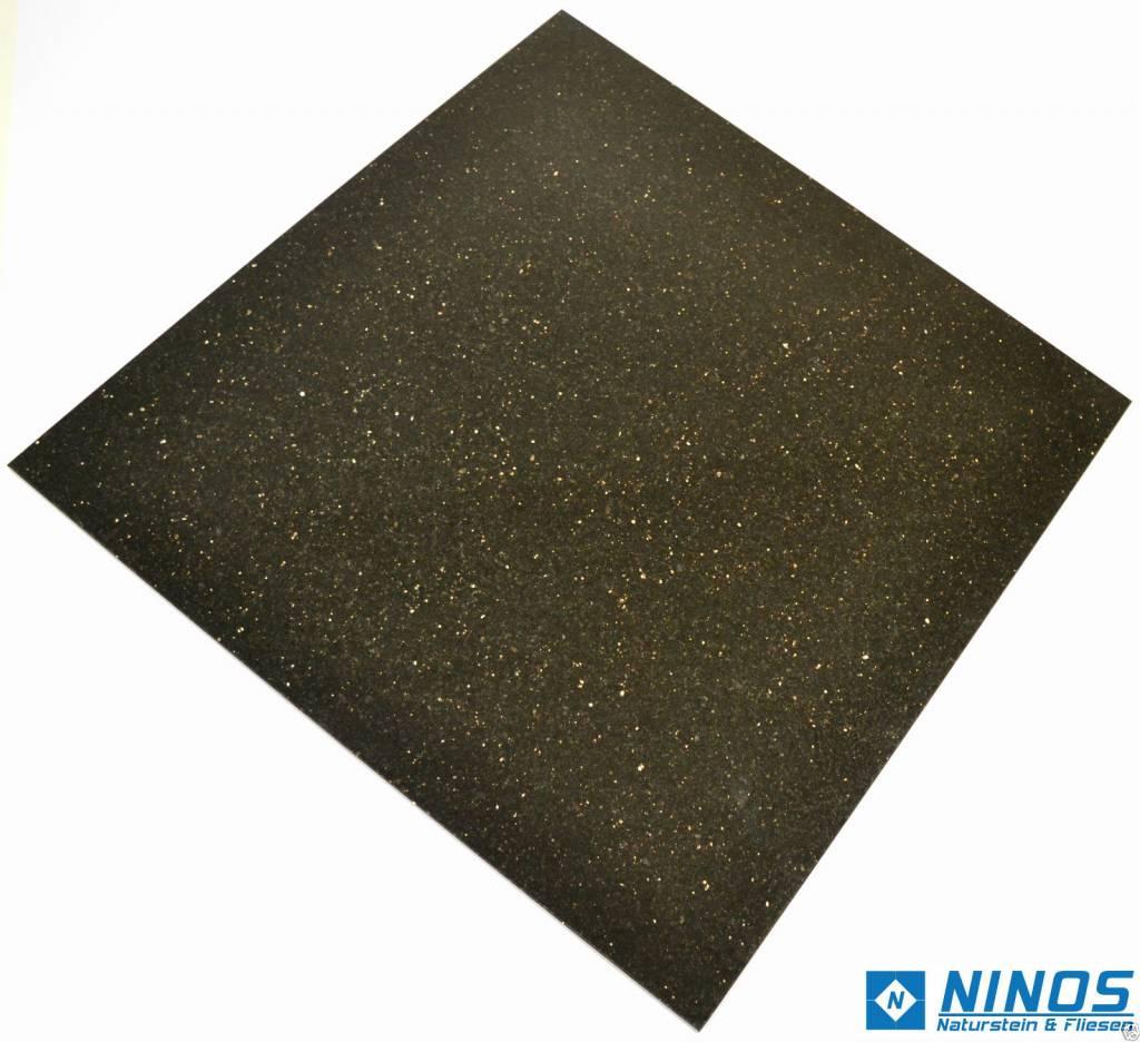 Black Star Galaxy Natuursteen Tegels Gepolijst Facet Gekalibreerd 61x61x1,2cm