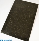 Black Star Galaxy Dalles en granit poli chanfrein calibré 60x40x1 cm