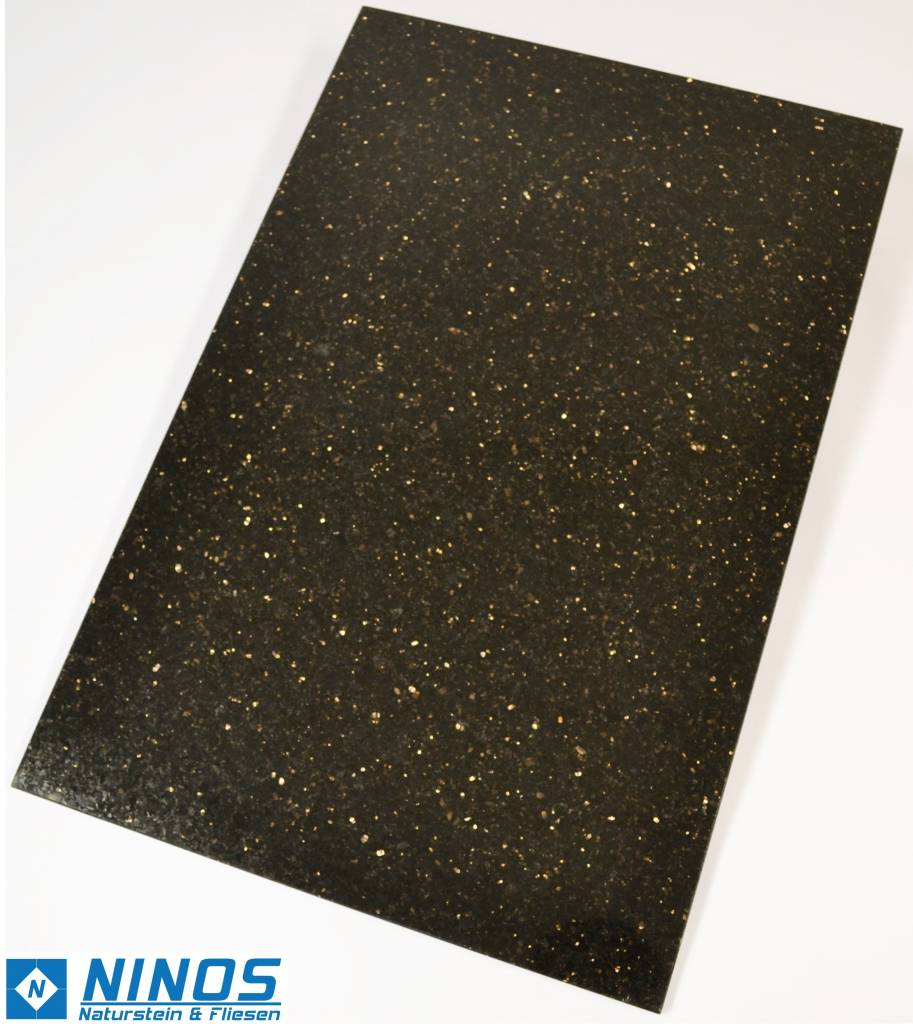 Black star galaxy granite tiles for 37 90 m ninos for Granit galaxy