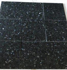 Emerald Pearl Dalles en granit poli, chanfrein, calibré, 2ère qualité premium de choix dans 30,5x30,5x1 cm