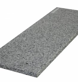 Padang Crystal Bianco Natuursteen granieten vensterbank, gepolijst oppervlak, 1. Keuz, rand tot 1 lange zijde en 2 korte zijden afgeschuind en gepolijst, is het mogelijk om ook te meten!