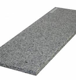 Padang Crystal Bianco Pierre naturelle de granit seuil surface polie, 1. Choice, bord à 1 côté long et 2 côtés courts anglés et polis, il est possible de mesurer aussi!