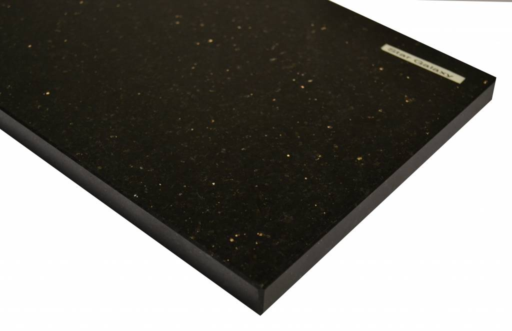 Black Star Galaxy Naturstein Granit Fensterbank