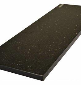 Black Star Galaxy Natuursteen graniet vensterbank gepolijst oppervlak, 1. Keuz, rand tot 1 lange zijde en 2 korte zijden afgeschuind en gepolijst, is het mogelijk om ook te meten!