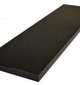 Nero Assoluto Black Natuursteen vensterbank gepolijst oppervlak, 1. Keuz, rand tot 1 lange zijde en 2 korte zijden afgeschuind en gepolijst, is het mogelijk om ook te meten!