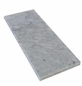 Bianco Carrara Natuursteen vensterbank gepolijst oppervlak, 1. Keuz, rand tot 1 lange zijde en 2 korte zijden afgeschuind en gepolijst, is het mogelijk om ook te meten!