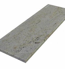 New Kashmir White Natuursteen vensterbank gepolijst oppervlak, 1. Keuz, rand tot 1 lange zijde en 2 korte zijden afgeschuind en gepolijst, is het mogelijk om ook te meten!