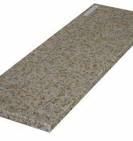 Padang Gelb Pierre naturelle de granit seuil surface polie, 1. Choice, bord à 1 côté long et 2 côtés courts anglés et polis, il est possible de mesurer aussi!