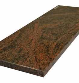 Multicolor Red Natural stone windowsill, Polished surface, 1. Choice, edge to 1 long side and 2 short sides chamfered and polished, it is possible to measure also!