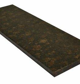 Tan Brown Pierre naturelle de granit seuil, surface polie, 1. Choice, bord à 1 côté long et 2 côtés courts anglés et polis, il est possible de mesurer aussi!