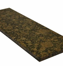 Baltic Brown Natuursteen granieten vensterbank, gepolijst oppervlak, 1. Keuz, rand tot 1 lange zijde en 2 korte zijden afgeschuind en gepolijst, is het mogelijk om ook te meten!
