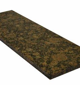 Baltic brown Pierre naturelle de granit fenêtre, surface polie, 1. Choice, bord à 1 côté long et 2 côtés courts anglés et polis, il est possible de mesurer aussi!