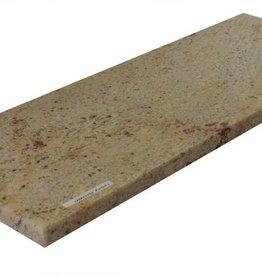 Shivakashi Ivory Brown Naturstein Granit Fensterbank Polierte Oberfläche, 1. Wahl, Kante auf 1 Lange Seite und 2 kurze Seiten Gefast und Poliert, auf Maß auch möglich!