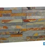 Briques mur de pierre Brickstone Ardoise Multicolor