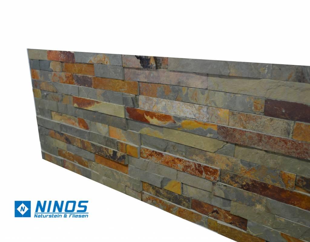 Brickstone Multicolor Slate Nauursteen Steenstrips