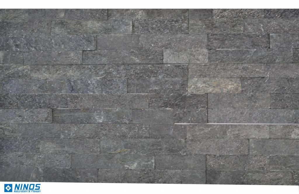 brickstone schwarz glitz naturstein verblender f r 39 90. Black Bedroom Furniture Sets. Home Design Ideas