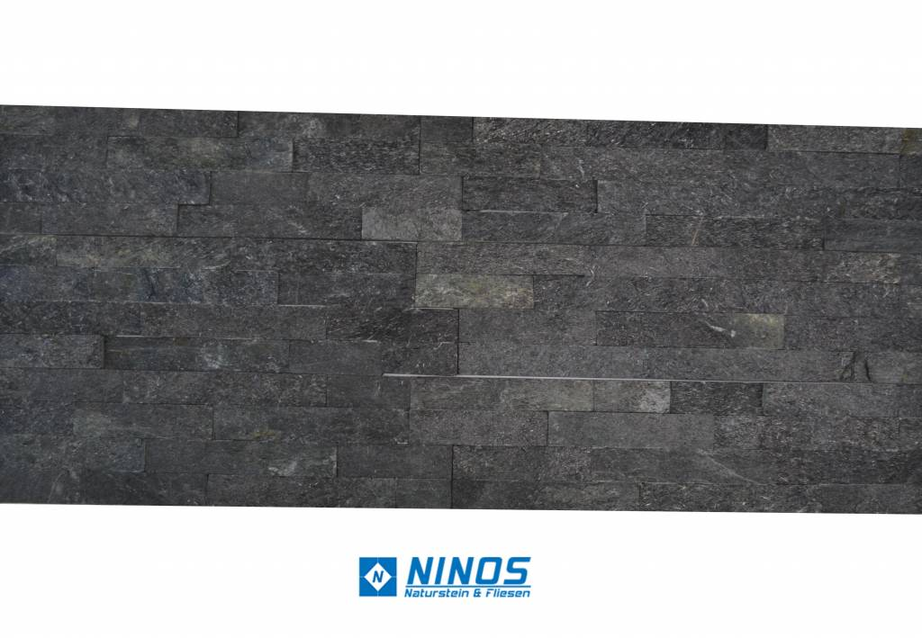 brickstone black kwartsiet steenstrips voor 39 90 m ninos naturstein. Black Bedroom Furniture Sets. Home Design Ideas
