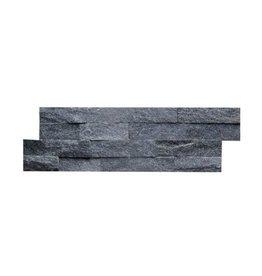 Brickstone Schwarz Glitz Naturstein Verblender Wandverblender 1. Wahl in 55x15 cm