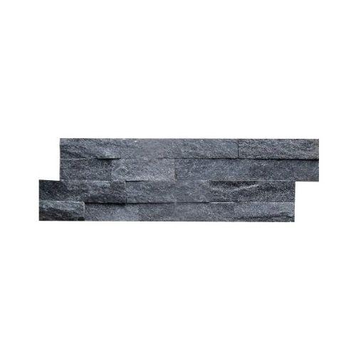Brickstone Schwarz Glitz Naturstein Verblender Wandverblender