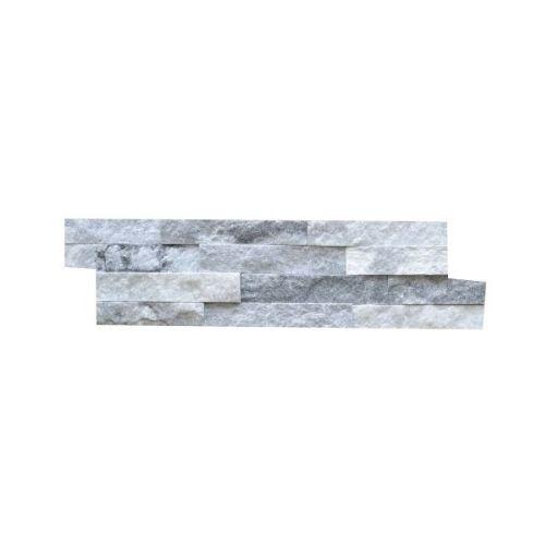 Brickstone White Grey Kwartsiet Nauursteen Steenstrips