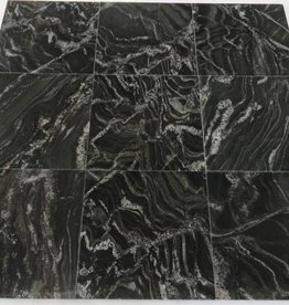 Black Forest Granitfliesen Poliert, Gefast, Kalibriert, 1.Wahl Premium Qualität in 30,5x30,5x1 cm