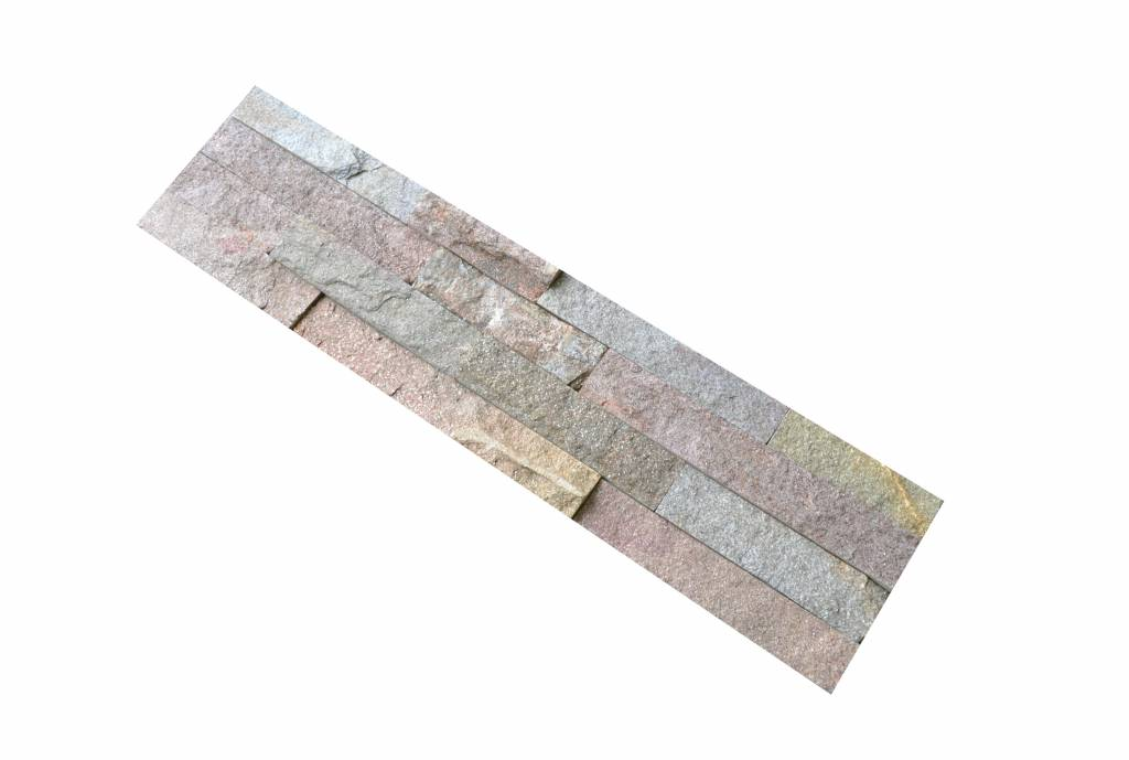 Wall bricks stone panels Quarzite Rusty