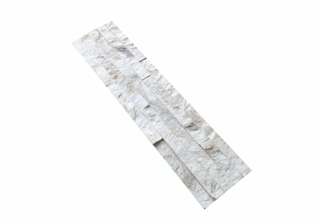 Brickstone Weiß Gold Quarzit Naturstein Verblender