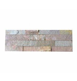 Briques mur de pierre Quarzit Brickstone Rusty 1. Choice dans 55x15 cm