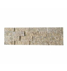 Wall bricks stone panels Tiger Yellow 1. Choice in 55x15 cm
