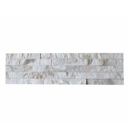 Brickstone Weiß Gold Quarzit Naturstein Verblender 1. Wahl in 55x15 cm