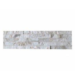 Brickstone White Gold Kwartsiet Nauursteen Steenstrips 1. Keuz in 55x15 cm