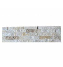 Brickstone White Creme Kwartsiet Nauursteen Steenstrips 1. Keuz in 55x15 cm