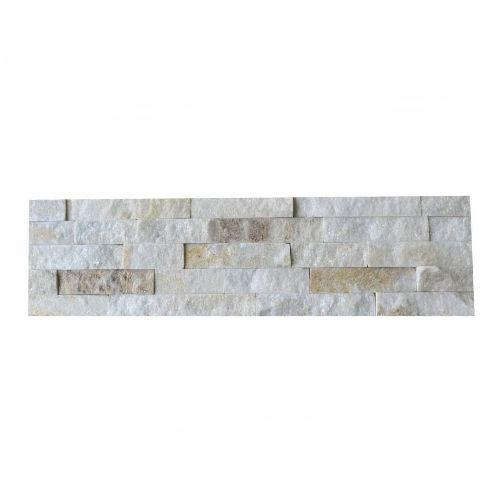 Brickstone White Creme Quarzit Naturstein Verblender