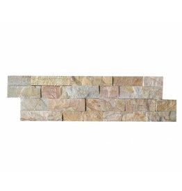 Briques mur de pierre Quarzit Brickstone New Beige 1. Choice dans 55x15 cm