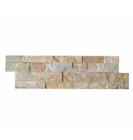 Wall bricks stone panels Quarzite New Beige 1. Choice in 55x15 cm
